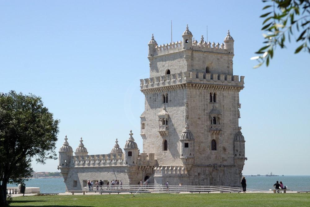 Torre de Bel�m, erbaut im manuelinischen Stil   - weiter zur Fotogalerie