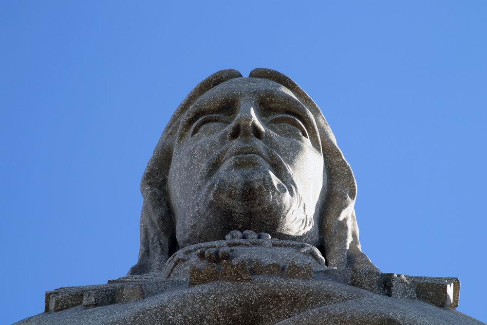 Cristo Rei, von der Aussichtsplattform betrachtet   - weiter zur Fotogalerie