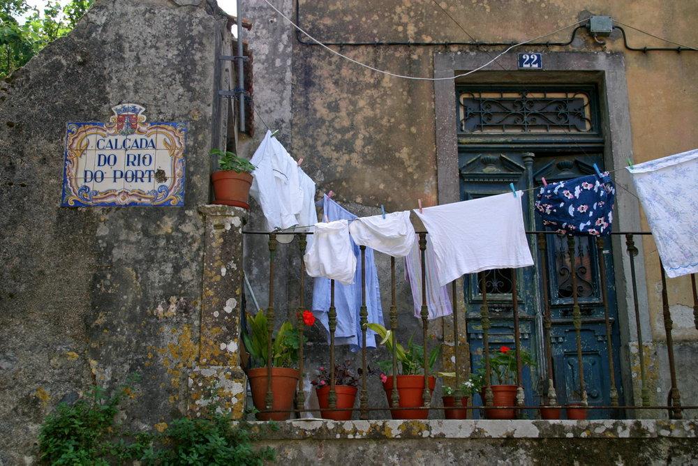 typischer Hauseingang, gesehen in Sintra   - weiter zur Fotogalerie
