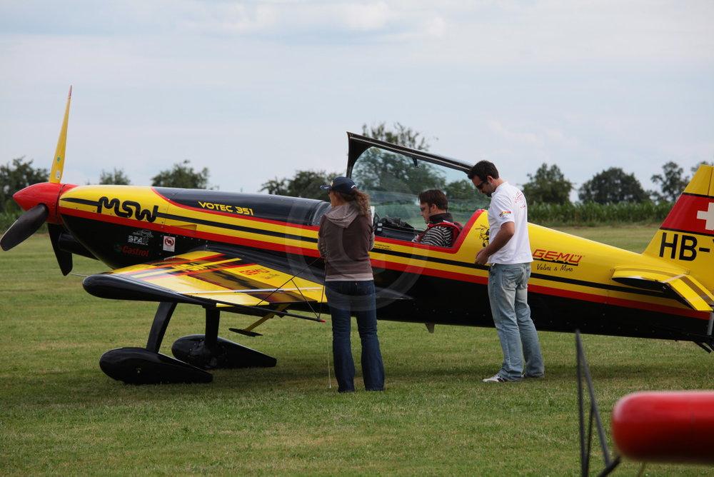 VOTEC 351 MSW, gebaut von Max Vogelsang, hier geflogen von Urs Vogelsang   - weiter zur Fotogalerie